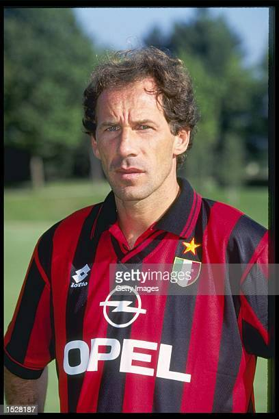 A portrait of Franco Baresi of AC Milan taken during the club photocall Mandatory Credit Allsport UK