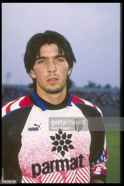A portrait of Gianluigi Buffon of Parma taken during the club photocall Mandatory Credit Allsport UK