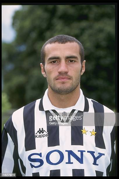 A portrait of Iglesias Montero of Juventus taken during the club photocall Mandatory Credit Allsport UK