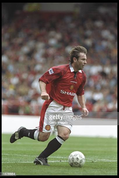 Brian McClair of Manchester United in action during the Umbro Cup preseason tournament between Ajax Chelsea Manchester United and Nottingham Forest...