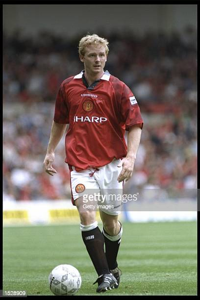 David May of Manchester United in action during the Umbro Cup preseason tournament between Ajax Chelsea Manchester United and Nottingham Forest at...