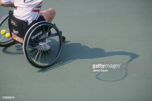 Wheelchair tennis at the Stone Mountain Tennis Center during the 1996 Paralympics in Atlanta Georgia Mandatory Credit Jamie Squire /Allsport