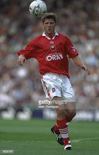 Arjan De Zeeuw of Barnsley in action during the FA Carling Premiership match against Derby County at Pride Park in Derby England Derby County won the...