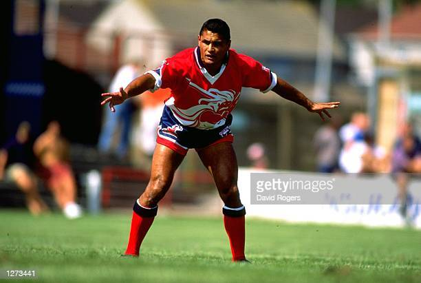 Frano Botica of Llanelli in action during a Welsh National League Division One match against Neath at Stradey Park in Llanelli Wales Llanelli won the...