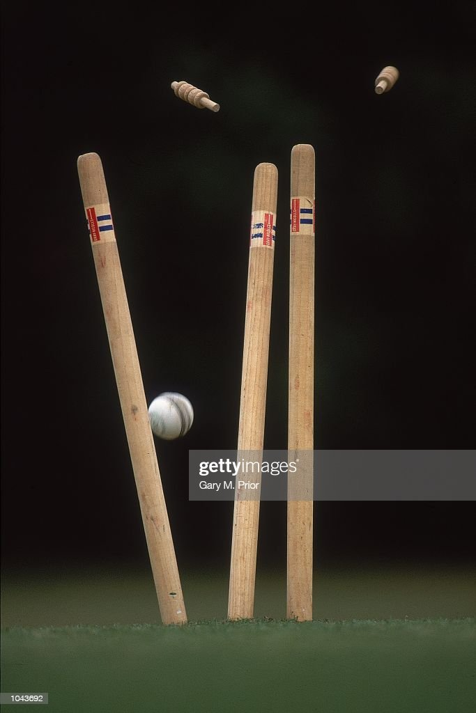 A Model Release of general view of Wickets falling at the Reigate Priory CC Reigate England Mandatory Credit Gary M Prior/Allsport