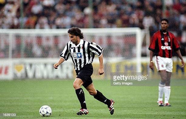 Allessandro del Piero of Juventus in action during the Pre Season Friendly against Milan at the Giuseppe Meazza stadium in Milan Italy Juventus won...