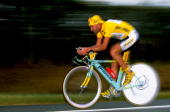 Marco Pantani of Italy and the Mercatone team during Stage 20 Time Trial of the 1998 Tour De France between Montceau and Le Creusot France Mandatory...