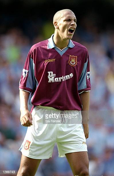 Rio Ferdinand of West Ham United in action during the FA Carling Premiership match against Coventry City at Highfield Road in Coventry England The...