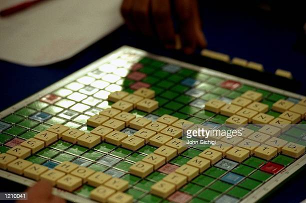 A game of Scrabble in progress during the Mind Sports Olympiad at Olympia in London Mandatory Credit John Gichigi /Allsport
