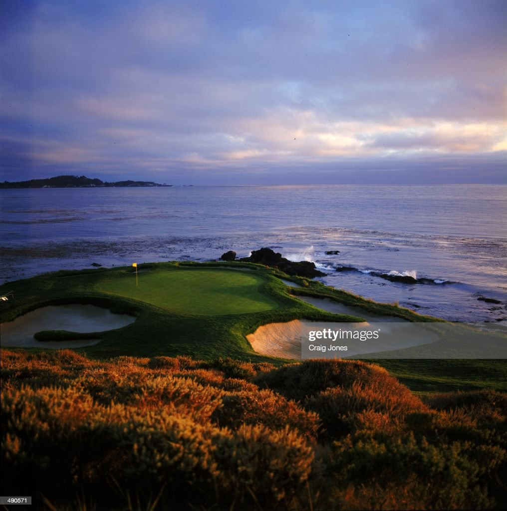 A general view of the Hole at the Pebble Beach Golf Links in Pebble Beach California