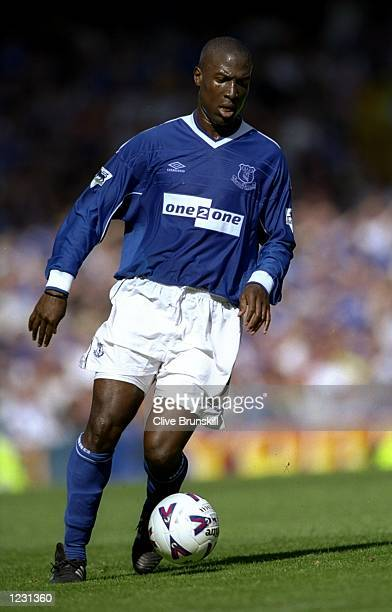 Kevin Campbell of Everton in action during the FA Carling Premiership match against Southampton played at Goodison Park in Liverpool England Everton...