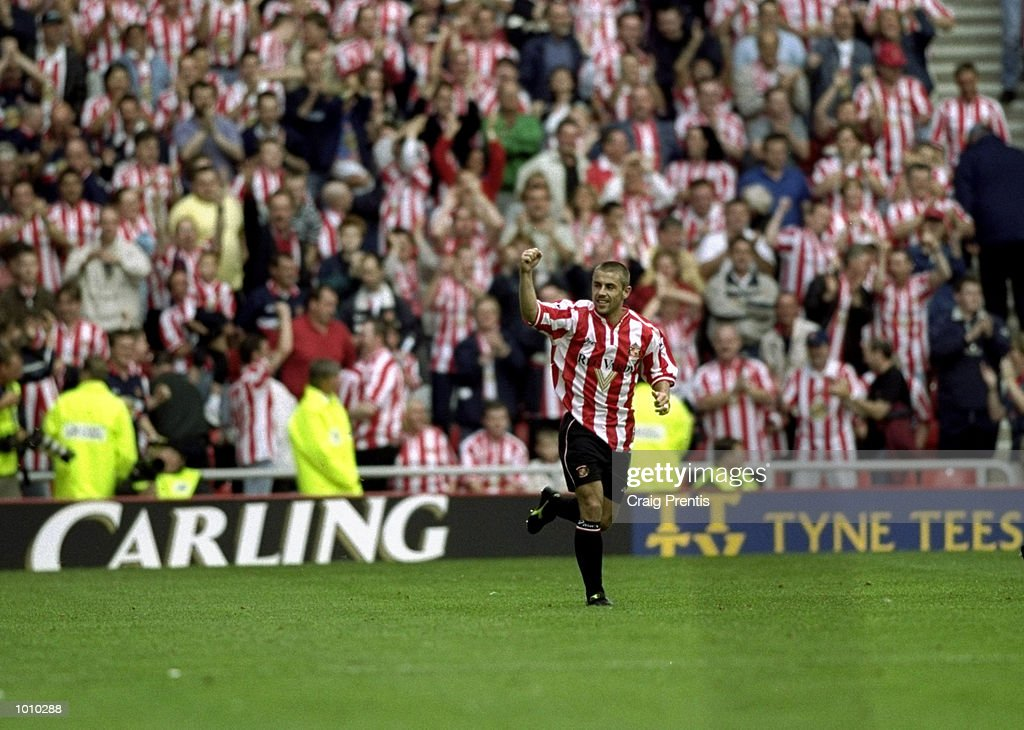Kevin Phillips of Sunderland celebrates during the Sunderland v Coventry City FA Carling Premiership match at the Stadium of Light, Sunderland. \ Mandatory Credit: Craig Prentis /Allsport