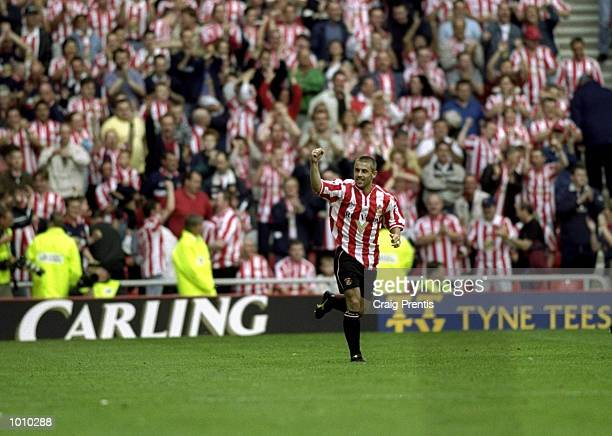Kevin Phillips of Sunderland celebrates during the Sunderland v Coventry City FA Carling Premiership match at the Stadium of Light Sunderland...