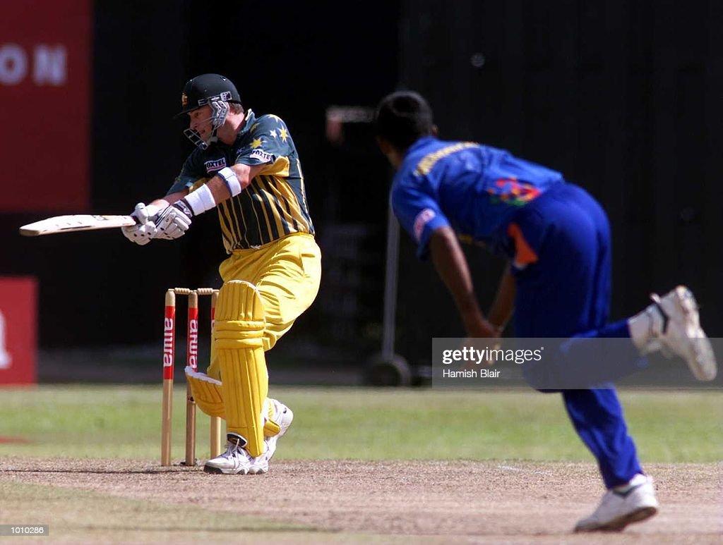 Mark Waugh of Australia drives a ball off Pramodya Wickremakinghe of Sri Lanka, during the one day Final at Premadasa Stadium, Colombo, Sri Lanka. Mandatory Credit: Hamish Blair/ALLSPORT
