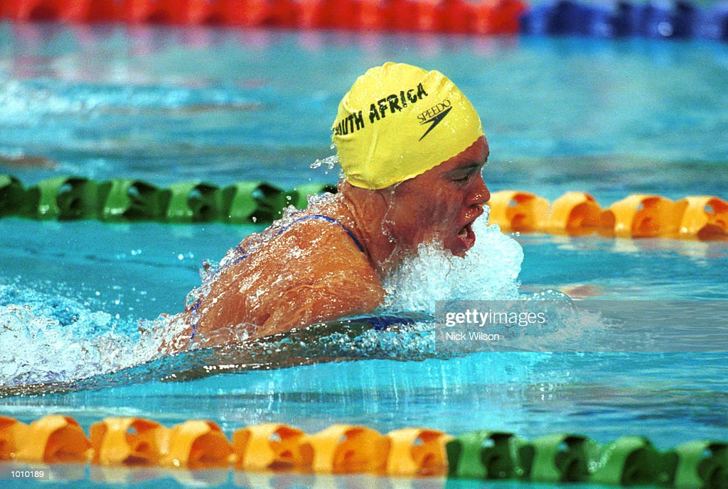 Penny Heyns of South Africa in action whilst winning the 100 metres breastroke gold medal during day three of the Pan Pacific Swimming Championships at the Aquatic Centre, Homebush, Sydney, Australia. Mandatory Credit: Nick Wilson/ALLSPORT