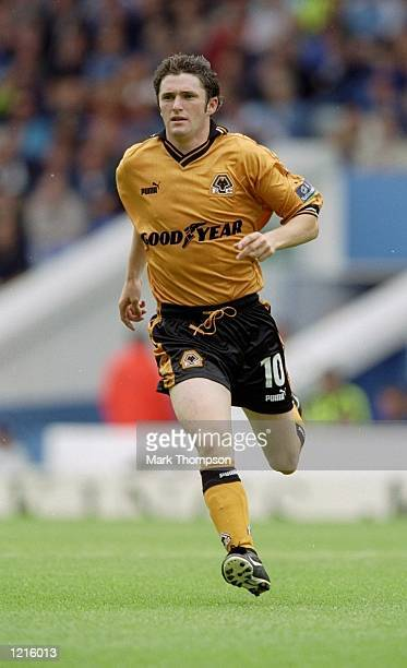 Robbie Keane of Wolverhampton Wanderers during the Nationwide League Division One match against Manchester City at Maine Road in Manchester England...
