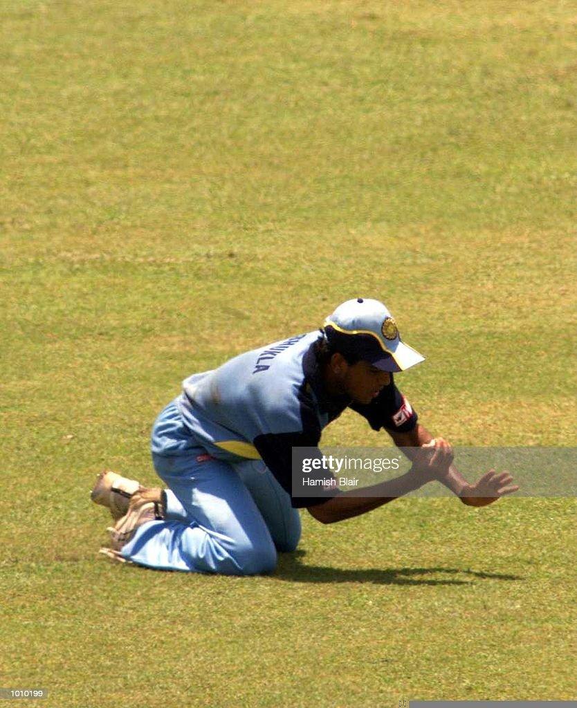 Substitute fieldsman Laxmi Ratan Shukla of India, catches Ricky Ponting of Australia, during the match between India and Australia at Singhalese Stadium, Colombo, Sri Lanka. Mandatory Credit: Hamish Blair/ALLSPORT