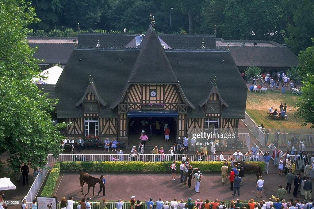 The Weighing Room 2 and Unsadelling Enclosure at the Deauville Racecourse France Mandatory Credit Julian Herbert /Allsport