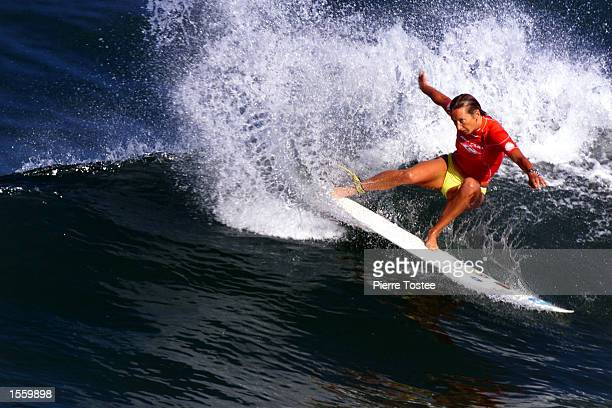 Current Association of Surfing Professionals world champion Layne Beachley powered past Patricia Rossi of Tahiti in round one of the Rip Curl...