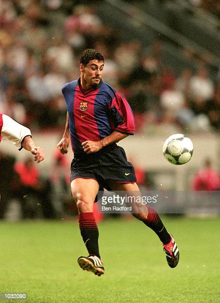 Dani of Barcelona in action during the PreSeason Friendly Tournament match against Arsenal at the Amsterdam ArenA in Amsterdam Holland Barcelona won...
