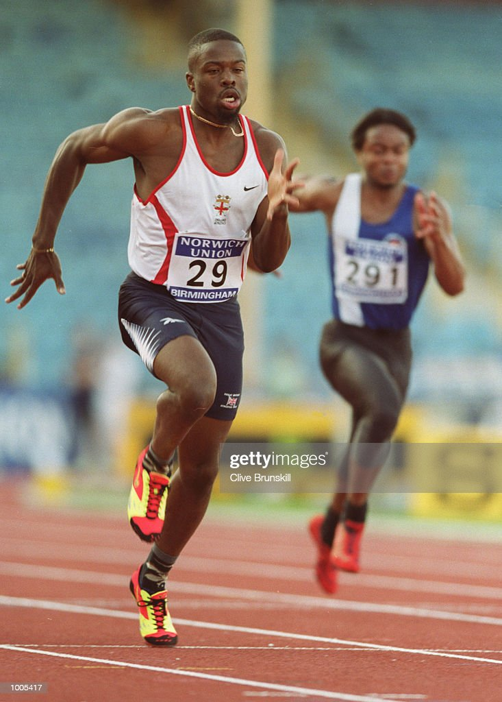 Jon Barbour of Great Britain in action during the Mens 100m at the Norwich Union AAA's and Olympic Trials held at the Alexander Stadium, Birmingham. Mandatory Credit: Clive Brunskill/ALLSPORT
