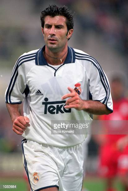Luis Figo of Real Madrid in action during the Bayern Munich Centenary preseason friendly tournament match against Galatasaray at the Olympic Stadium...