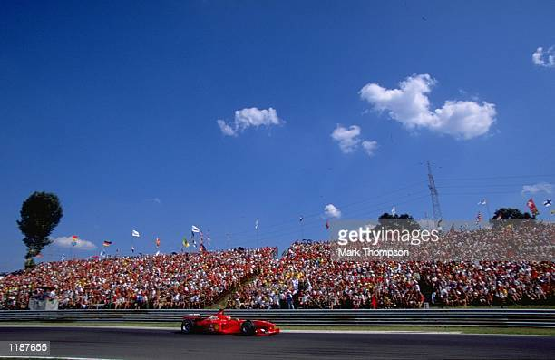 Michael Schumacher in action in his Ferrari during the Formula One Hungarian Grand Prix at the Hungaroring near Budapest in Hungary Mandatory Credit...