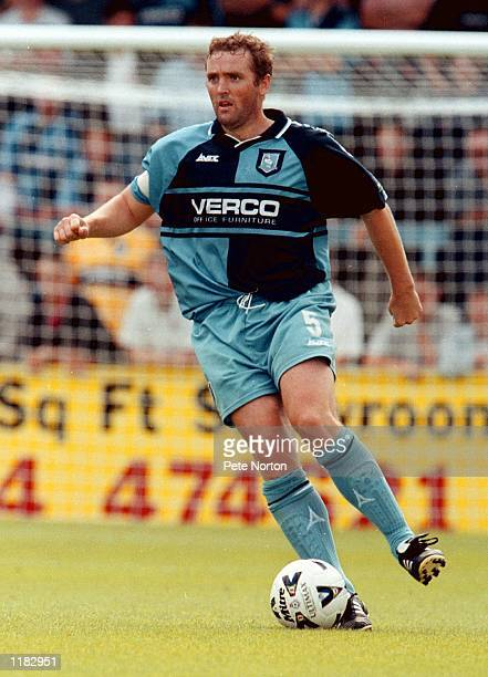 Paul McCarthy of Wycombe Wanderers in action during the Nationwide League Division Two match against Northampton Town at Adams Park in Wycombe...