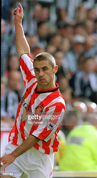 Kevin Phillips of Sunderland celebrates after scoring the first goal during the Newcastle United v Sunderland FA Barclaycard Premiership match at St...