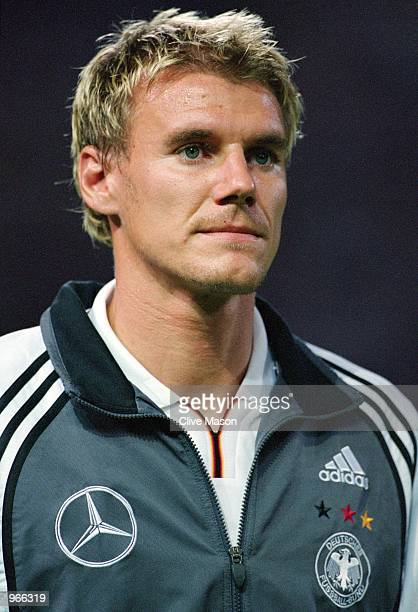 Portrait of Alexander Zickler of Germany prior to the International friendly match between Hungary and Germany played at the Nepstadion in Budapest...