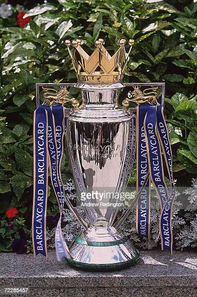 The new FA Barclaycard Premiership Trophy at the Royal Lancaster Hotel London Mandatory Credit Andrew Redington/Allsport