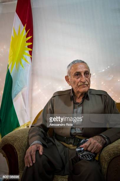 05 Aug 2015 Bashika frontline few kilometers from Mosoul Hamid Affendi former minister of Peshmerga says he is about 82 and he is slightly...