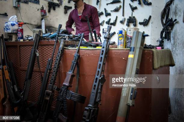 06 Aug 2015 Hakim Bakhtiar son of the owner of this weapon shop in the Bazar of Erbil Selling modyfying and repairing weapons is a fulltime job for...