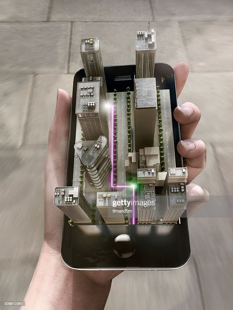 Augmented Reality Map on a smartphone