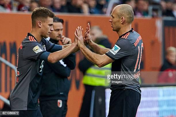 Augsburg Deutschland 1 Bundesliga 9 Spieltag FC Augsburg FC Bayern Muenchen Joshua Kimmich kommt fuer Arjen Robben vl ins Spiel