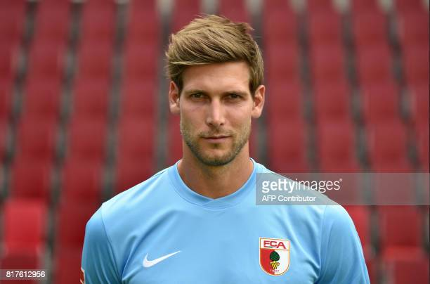 Augsburg's goalkeeper Fabian Giefer poses during a team presentation of the German first division Bundesliga football team FC Augsburg in Augsburg...