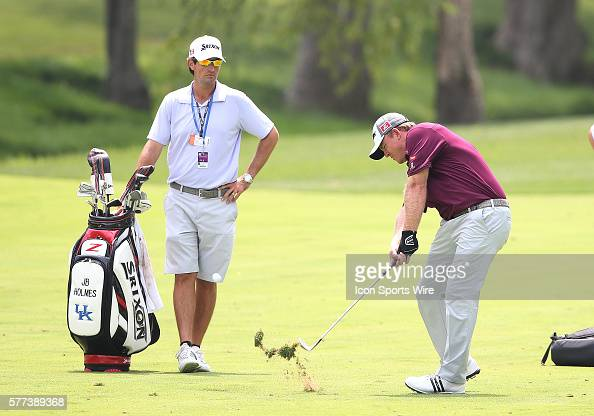 J B Holmes during a practice round at the PGA Championship at Valhalla Golf Club in Louisville Ky