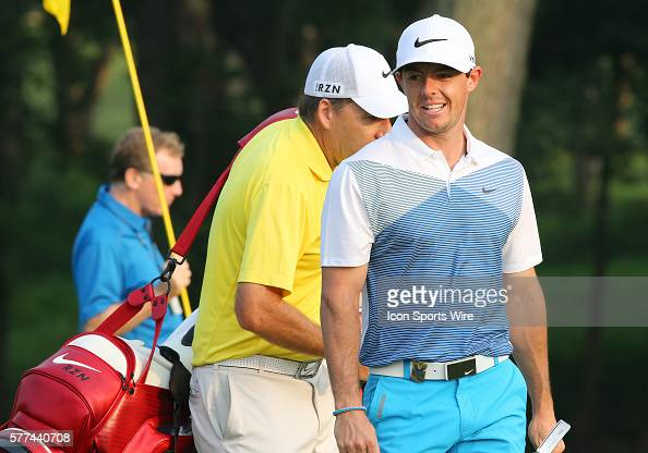 Rory McIlroy during a practice round at the PGA Championship at Valhalla Golf Club in Louisville Ky