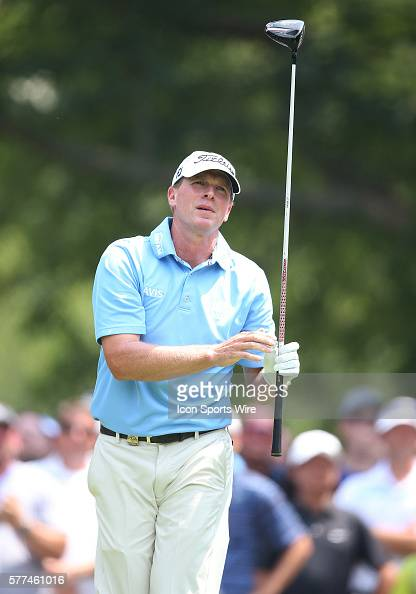 Steve Stricker during a practice round at the PGA Championship at Valhalla Golf Club in Louisville Ky