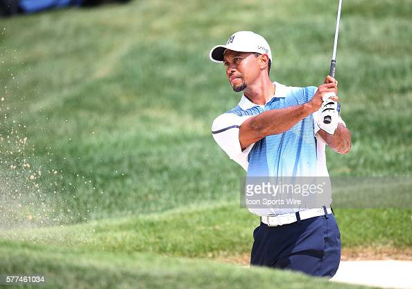 Tiger Woods during a practice round at the PGA Championship at Valhalla Golf Club in Louisville Ky