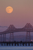 CONTENT] August 1 2012 the full Moon rises to the east of the Richmond San Rafael Bridge The bridge which crosses the San Francisco Bay in California...