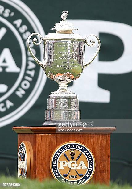 The Wanamaker Trophy during the fourth round of the PGA Championship at Valhalla Golf Club in Louisville Ky