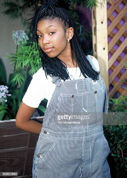 VIEW CA August 12 Brandy backstage at KMEL Summer Jam 1995 at Shoreline Amphitheater Event held on August 12 1995 in Mountain View California