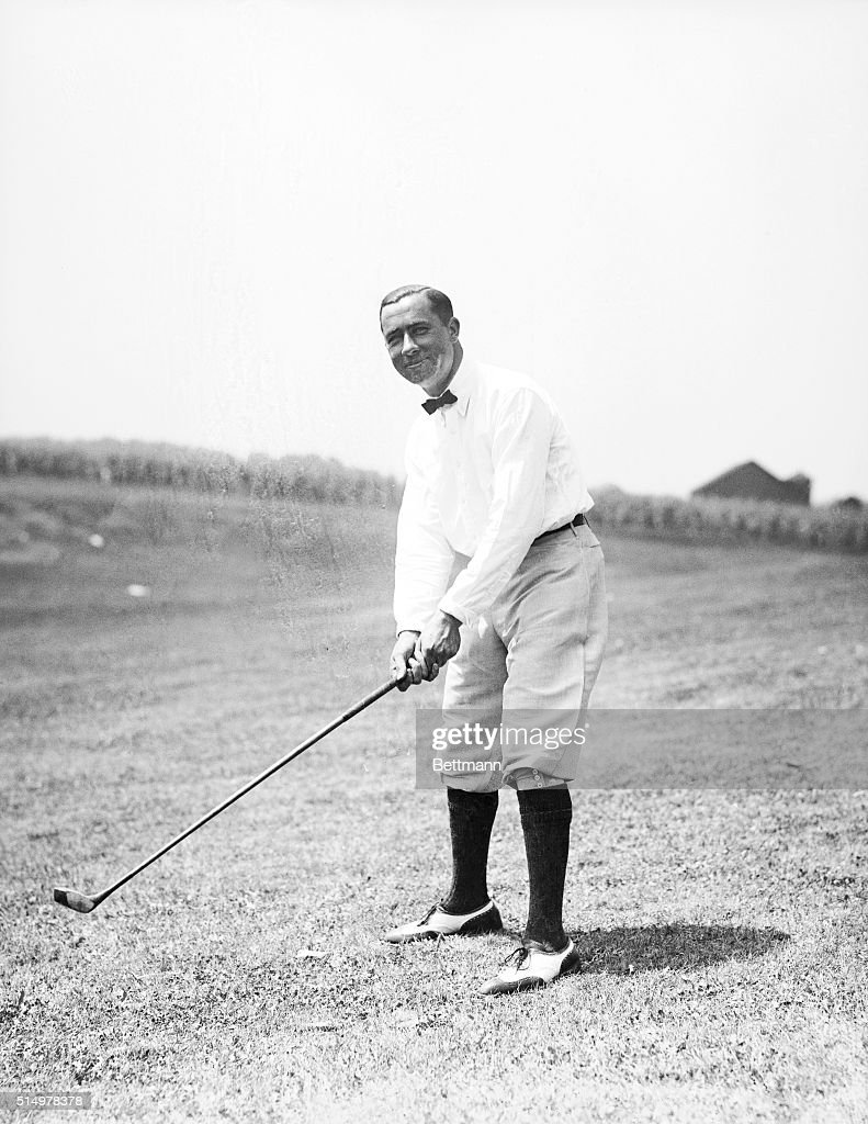 August 12, 1920, Stars in the National Open Golf Tounament. Walter Hagen on the Course.