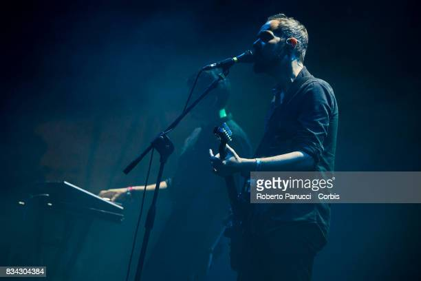 a American ambient pop musical group Cigarettes After Sex performs on stage during Ypsigrock Festival on August 11 2017 in Castelbuono Palermo Italy