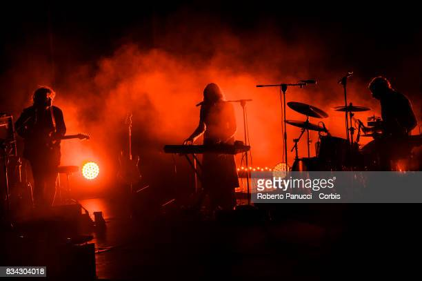 a American dream pop band Beach House performs on stage during Ypsigrock Festival on August 11 2017 in Castelbuono Palermo Italy