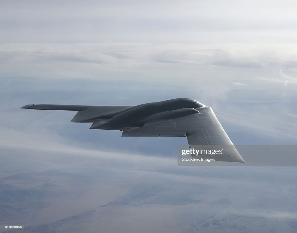 August 14, 2003 - A B-2 Spirit soars through the sky.