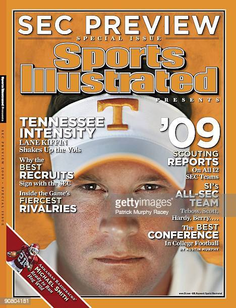 College Football Closeup portrait of Tennessee head coach Lane Kiffin during photo shoot Knoxville TN 6/29/2009 CREDIT Patrick MurphyRacey