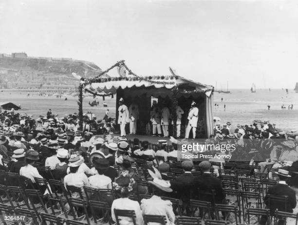 A Pierrot show on the beach at Scarborough