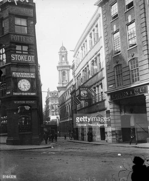 The Daily Sketch Evening Standard and Edward Hulton offices in Shoe Lane off Fleet Street home of Britain's national press